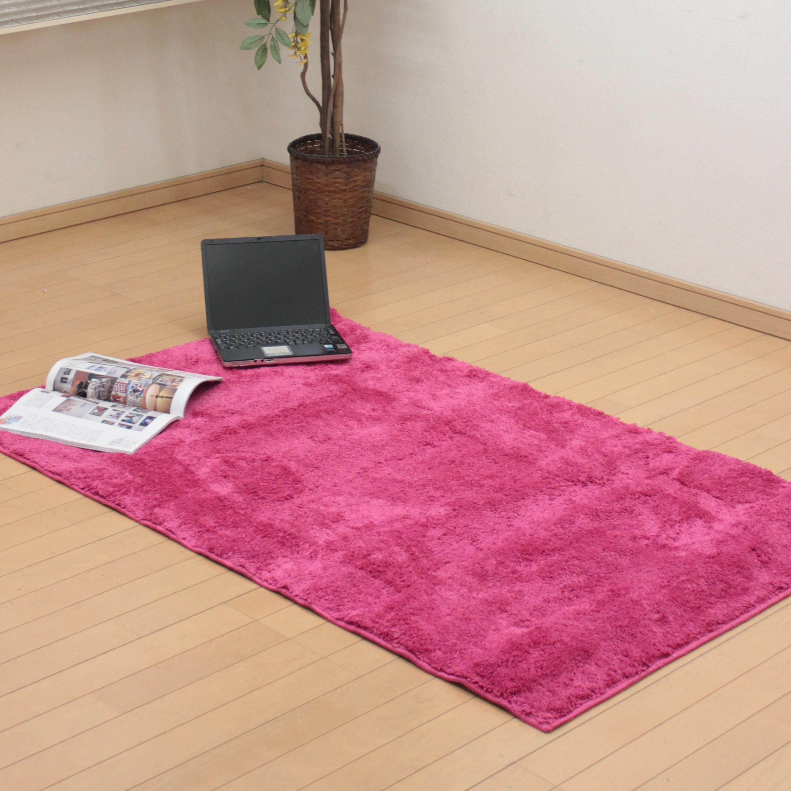 鮮やかなピンクのラグ!150×95 cm 仕入れサイト「仕入れスポット」